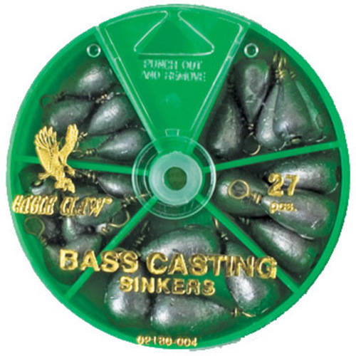 Eagle Claw Sinker Assortment Bass Casting, 27-Pack