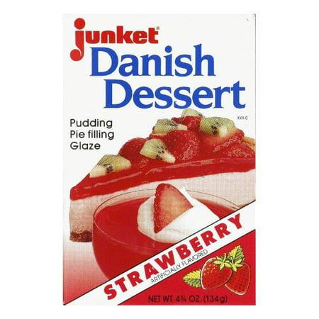 Strawberry Cheesecake Dessert - (5 Pack) Junket Strawberry Danish Dessert 4.75 oz Box