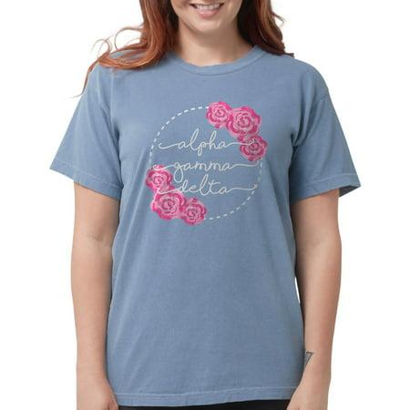 c969a5ce7 CafePress - Alpha Gamma Delta Fl Womens Comfort Color T Shirts - Womens  Comfort Colors® Shirt