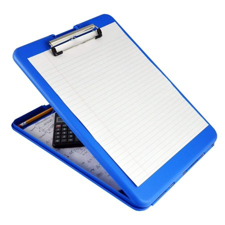 Blue SlimMate Plastic Storage Clipboard– Light Weight,PolypropyleneClipboardfor Students, Teachers, Parents, Sales, Utility, Industrial, Office Professionals.Stationery Items Saunders - 9-1/2x1-1 - Teacher Supply Store Nj