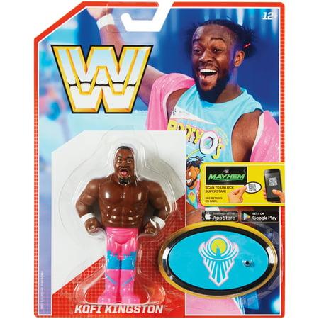 Kofi Kingston - WWE Retro Series 5 Toy Wrestling Action - Kofi Kingston Kids