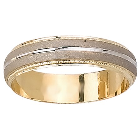 - 18K Two Tone Gold Modern Men's Wedding Band (5mm)