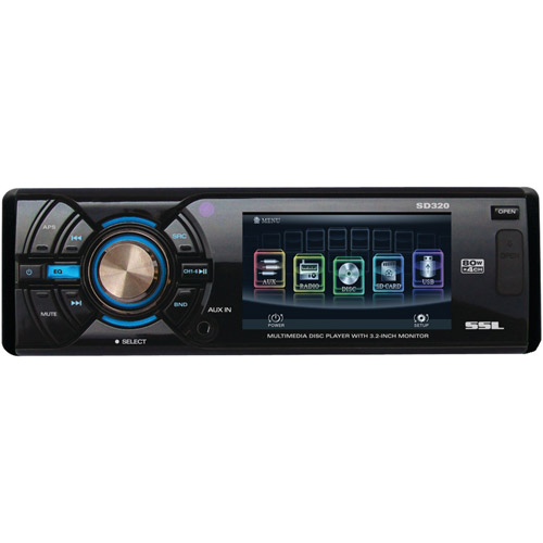 "Sound Storm SD320 Single-DIN In-Dash DVD Receiver with 3.2"" Detachable TFT Monitor"