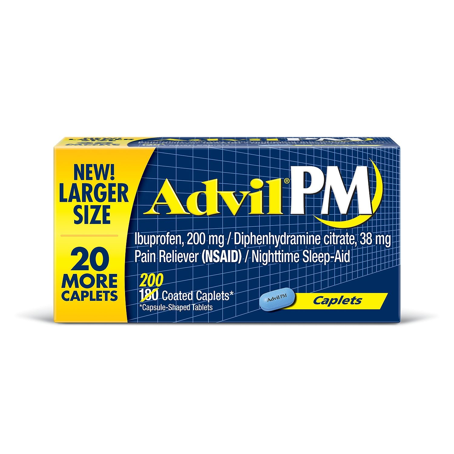 Advil  PM, 200 mg Caplets, 200 Ct