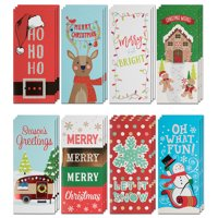 JAM Assorted Christmas Money Cards Set, Premium Holiday Designs, 24/Pack