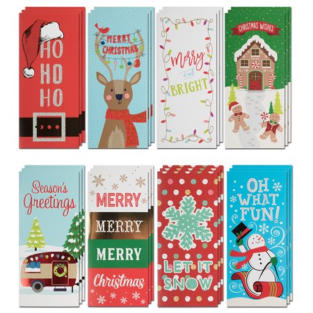 JAM Assorted Christmas Money Cards Set, Premium Holiday Designs, 24/Pack ()