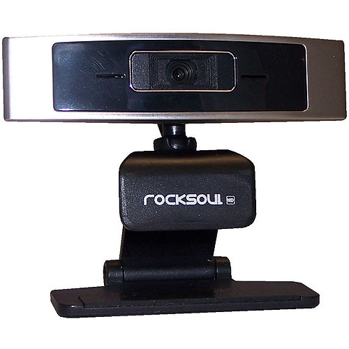 AWA Technology ROCKSOUL 1080p HD Webcam, Silver