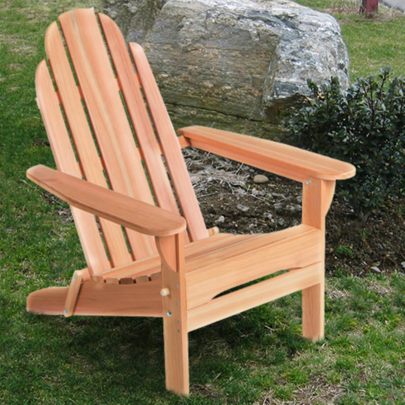 All Things Cedar Folding Adirondack Chair - Western Red Cedar