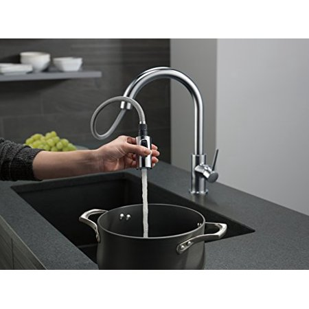 Delta Faucet 9159-AR-DST Trinsic Single Handle Pull-Down Kitchen ...