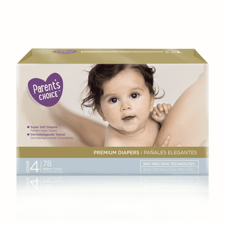 Parent's Choice Premium Diapers, Size 4, 78 Diapers