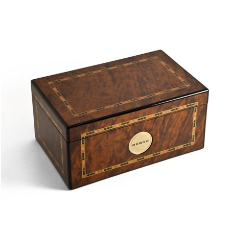 Reuge Swiss Music Box - Gorgeous Burr Thuya 72 Note Classic Style Framed Inlay Reuge Music Box - Ava Maria - Gound (3 Parts)