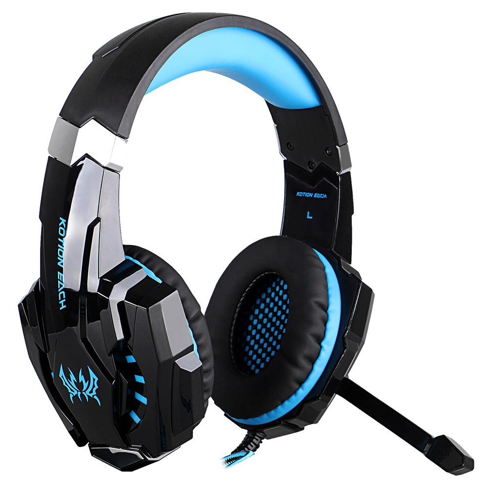 KOTION EACH G9000 3.5mm Gaming Headphone Game Headset Noise Cancellation Earphone with Mic LED Light