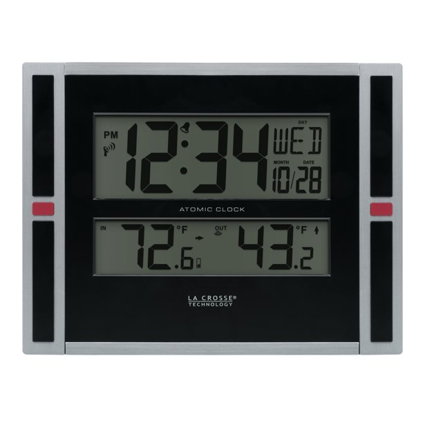 La Crosse Technology Atomic Digital, Best Rated Atomic Clock With Indoor Outdoor Temperature