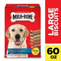 Milk-Bone Flavor Snacks Dog Biscuits - for Large-sized Dogs, 60-Ounce