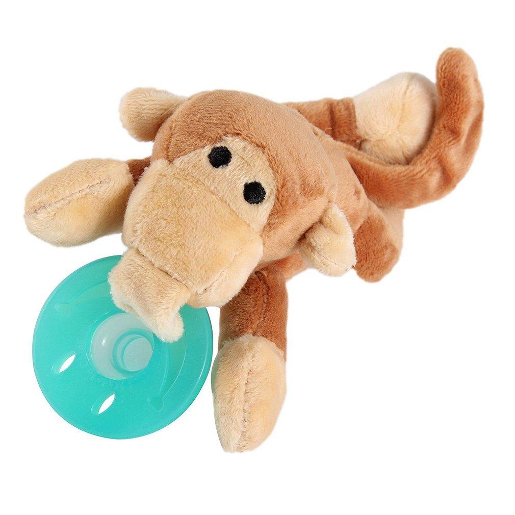 Cute Baby Pacifier Holder Stuffed Animal Baby Nipples Pac...