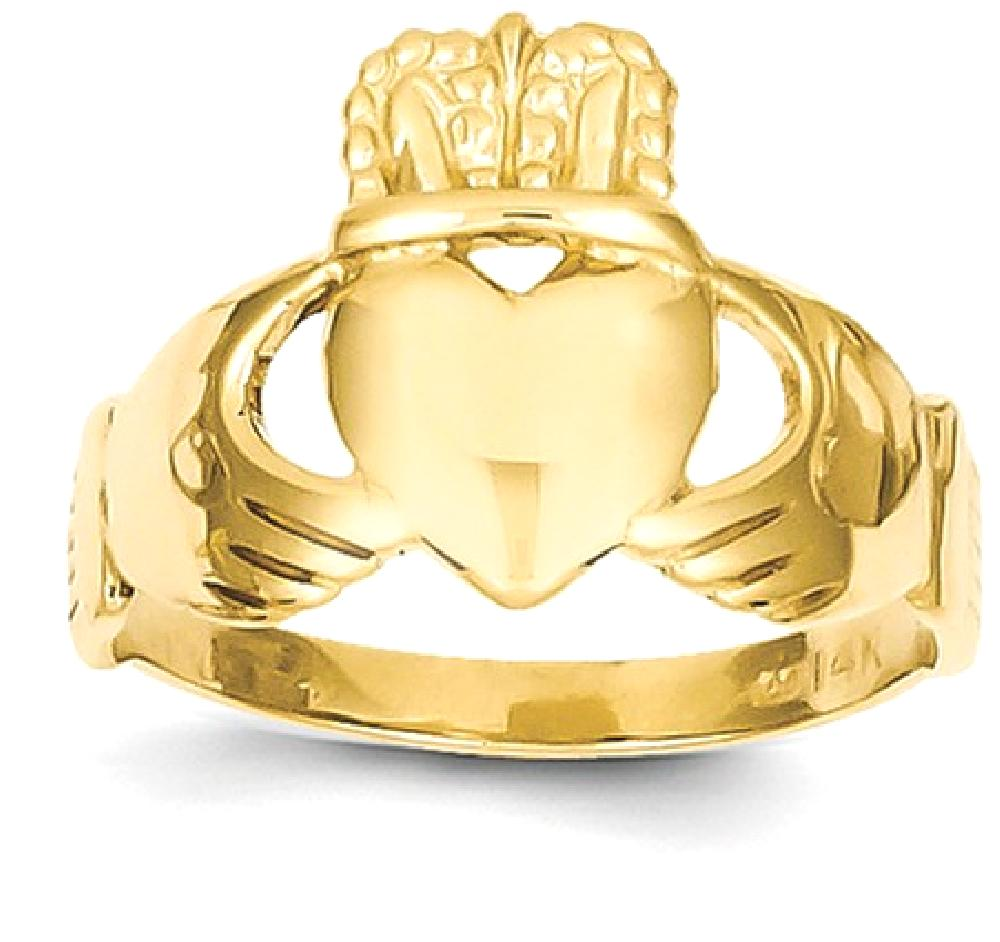 ICE CARATS 14kt Yellow Gold Ladies Irish Claddagh Celtic Knot Band Ring Size 6.00 Fine Jewelry Ideal Gifts For Women... by IceCarats Designer Jewelry Gift USA
