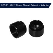 2PCS/Lot M12 Mount Thread Extension Adapter Zinc Alloy Extender M12 Lens Mount Extension Ring for MTV Interface CCTV Lens and Video Security Camera