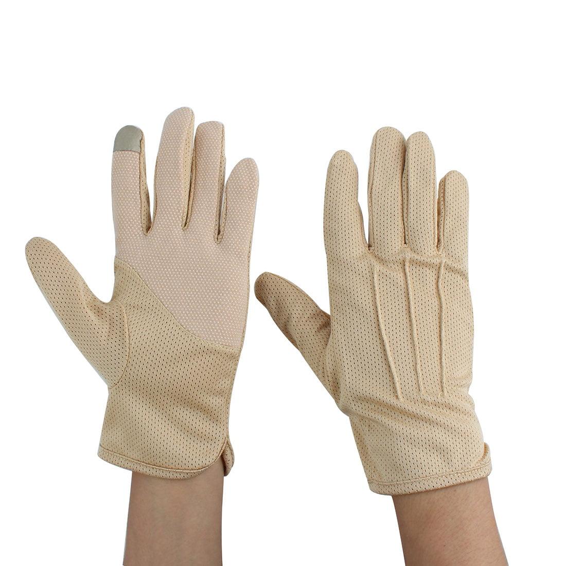 Man Summer Motorcycle Riding Driving Sun Resistant Gloves Protector Khaki #2