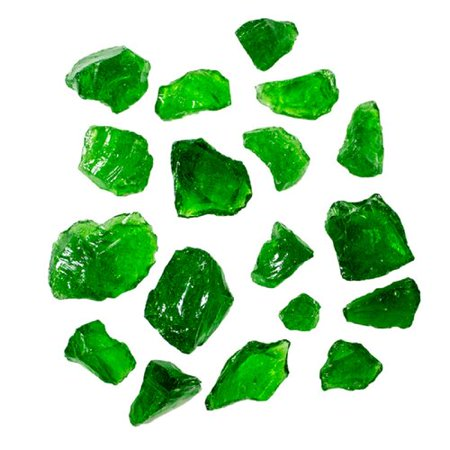 Hiland Green Recycled Fire Glass, 10