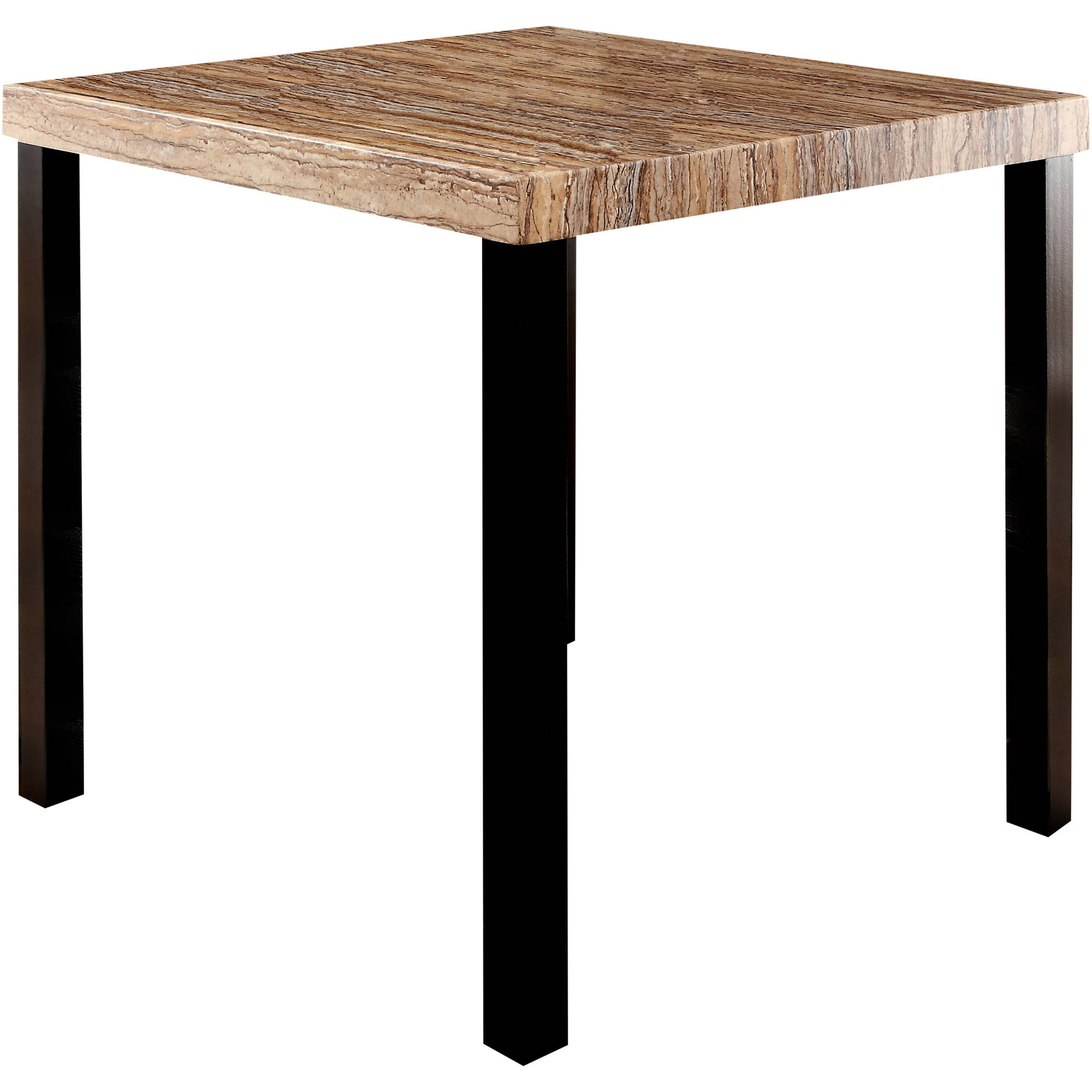 Furniture of America Malcon Contemporary Counter Height Dining Table, Black