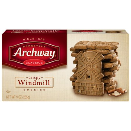 (2 Pack) Archway Crispy Windmill Cookies, 9 Oz Cookie Dough Caramel Crisp