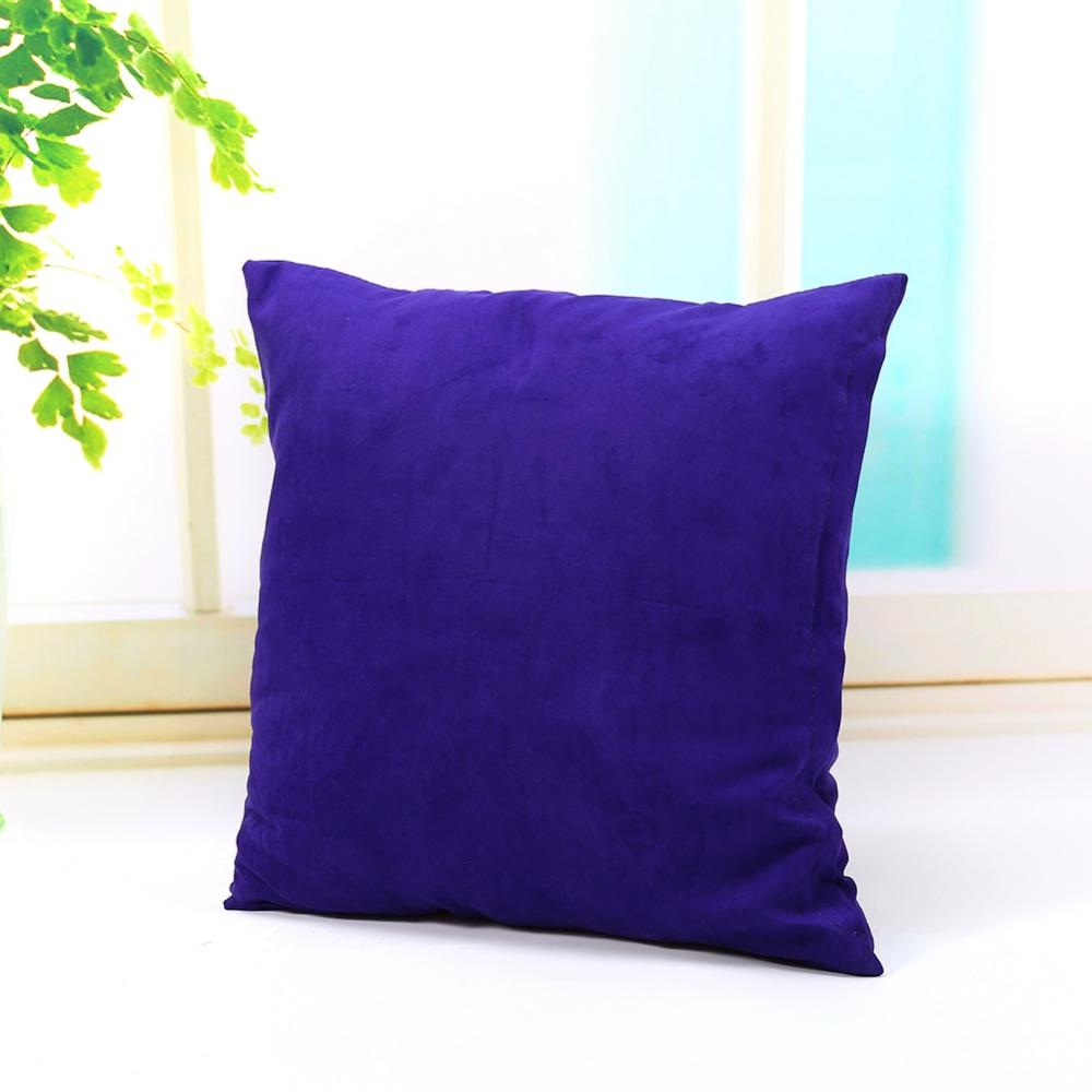 VBESTLIFE 45*45  Velvet Cushion Solid Color Throw Pillow Case Cover Home Sofa Bed Decor US