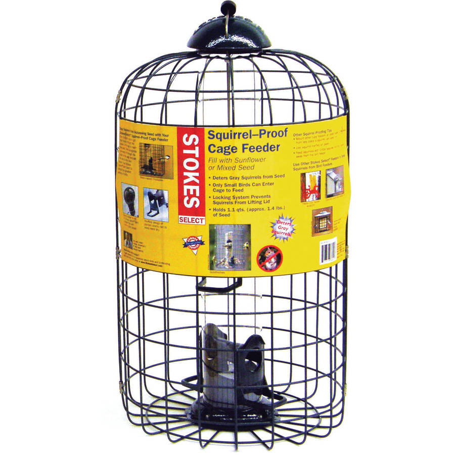 "Stokes Select Squirrel Proof Caged Bird Feeder with 4 Feeding Ports, 9.3"" Diameter, 1 lb Seed Capacity"