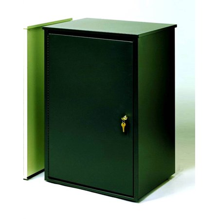 Firesafe Steel Security Receptacle in Olive Green Finish (Coffee Black)
