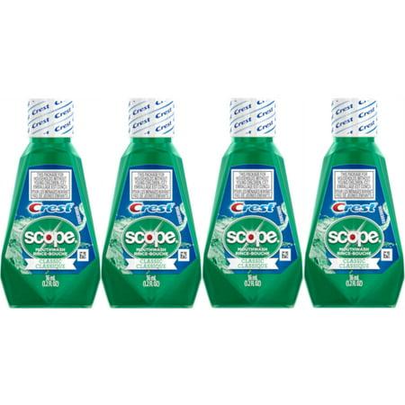 Travel Rinse - 4 Pack Scope Mouthwash Classic Travel Size 36 Ml / 1.2 Fl Oz