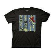 Ripple Junction One Piece Adult Unisex Group Grid Crew T-Shirt 3XL Black