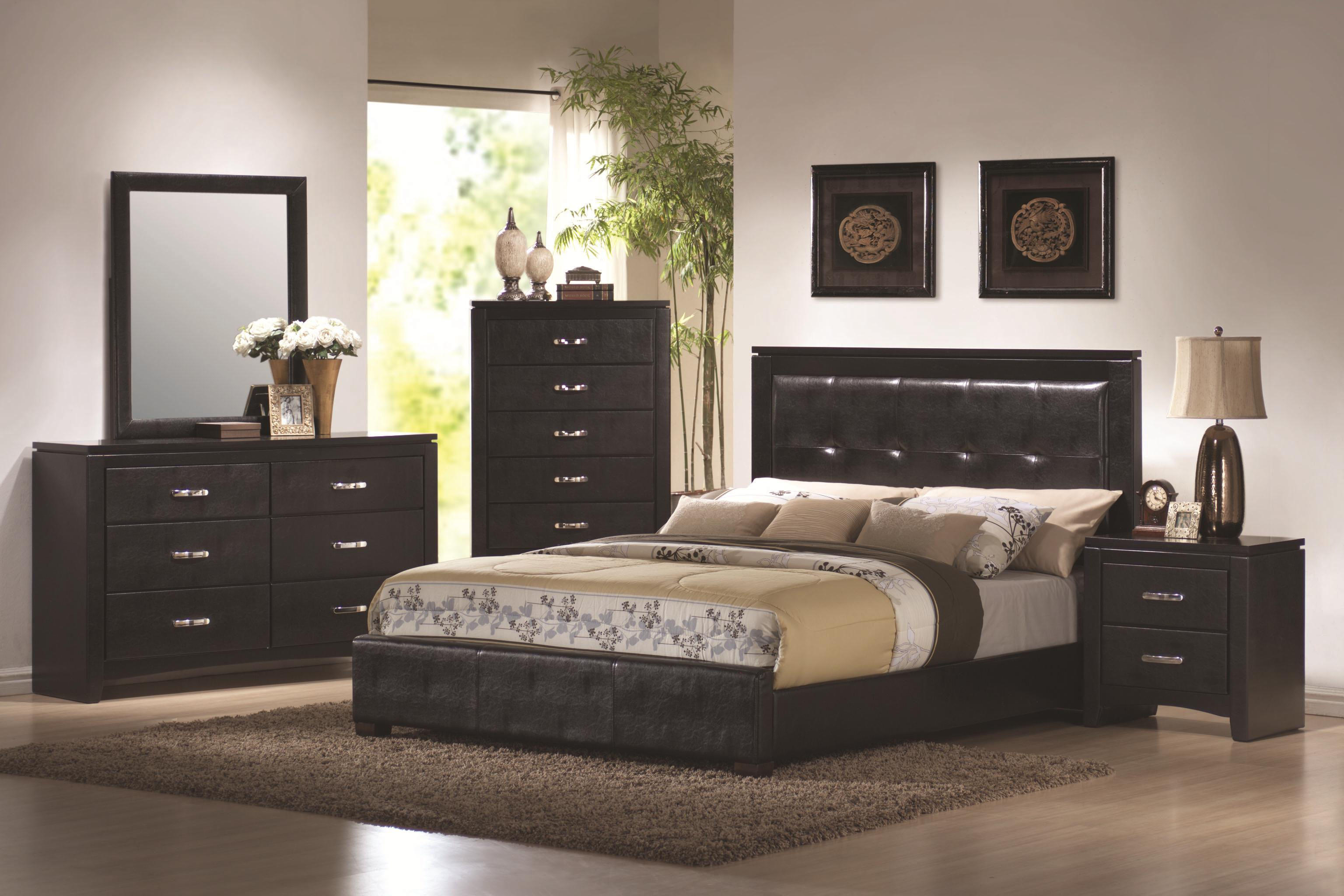 High Quality Dylan 5 Piece Bedroom Set Size:California King