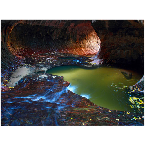 "Trademark Fine Art ""Zion Subway"" Canvas Art by Pierre Leclerc"