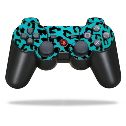 Skin Decal Wrap for Sony PlayStation 3 PS3 Controller sticker Teal Leopard
