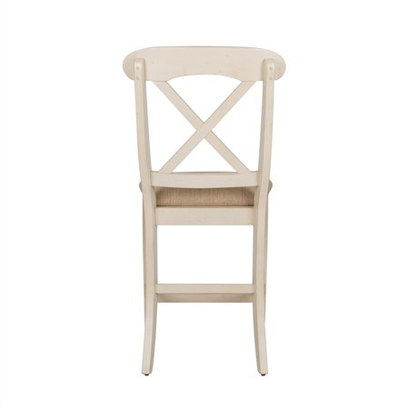"Liberty Furniture Ocean Isle 24"" X Back Counter Stool in Bisque - image 3 de 9"