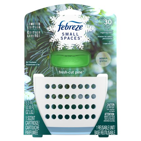 Febreze Small Spaces Air Freshener Starter Kit, Fresh-Cut Pine ...