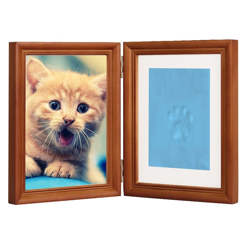 Coffee Personalized Dog or Cat Pet Memorial Frame Paw Prints Desk ...