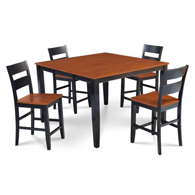 Mu0026D Furniture SUNH5 BLC W Sunderland 5 Piece Counter Height Dining Set  Table With