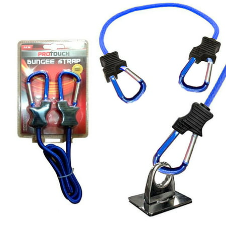 1 Pc Super Duty Bungee Strap Cord Tie Down Aluminum Carabiner Secure Hooks 3 Ft