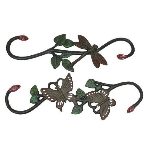 Iwgac Home Patio Garden Cast Iron Butterfly and Dragonfly Plant Hanger