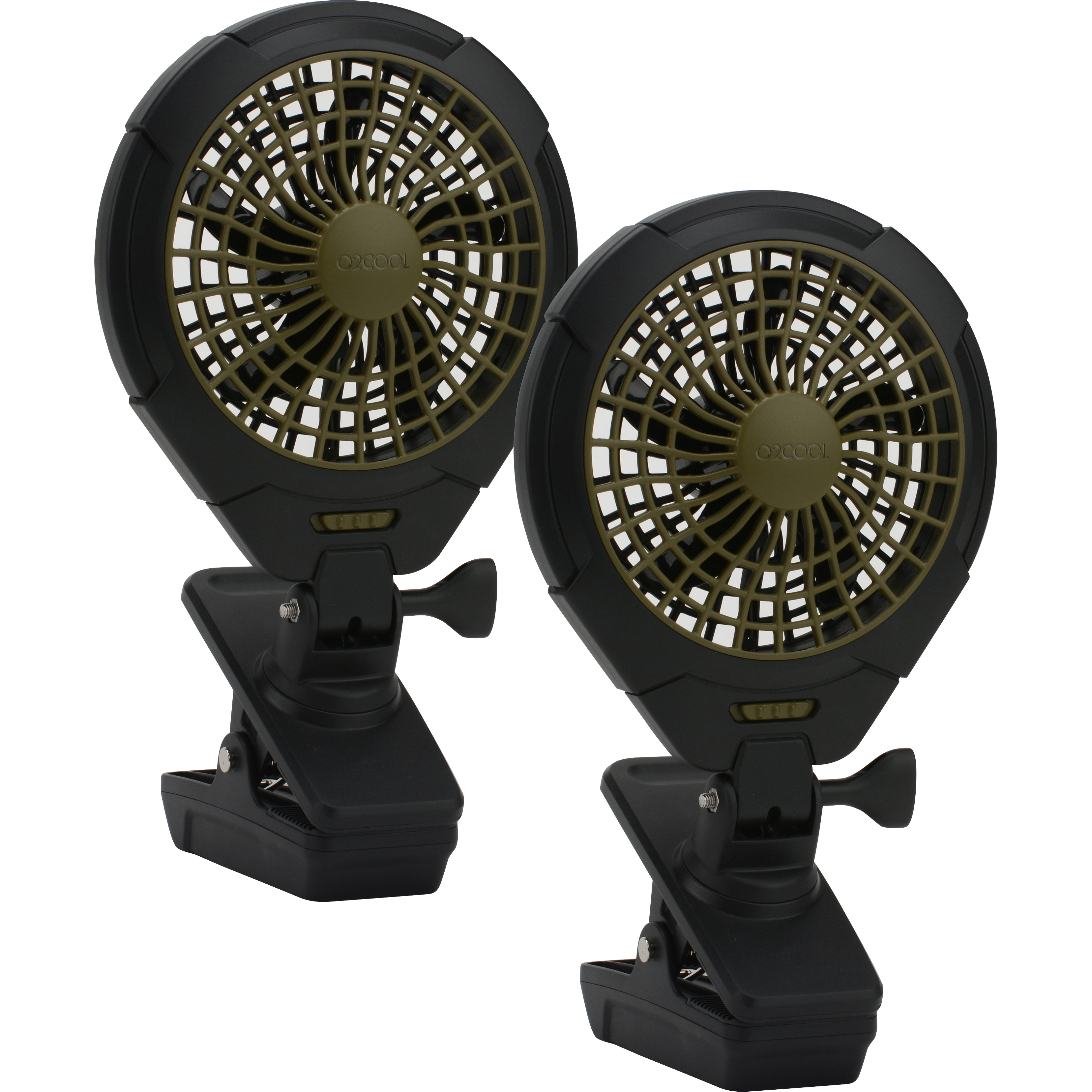 """O2COOL 5"""" Battery-Operated Clip Fan, 2 pack"""