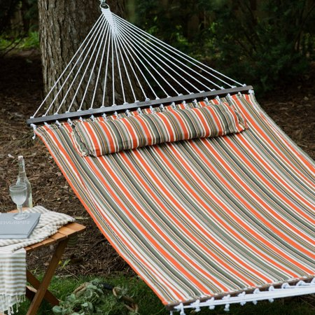 Island Bay 13 Ft  Sienna Stripe Quilted Hammock