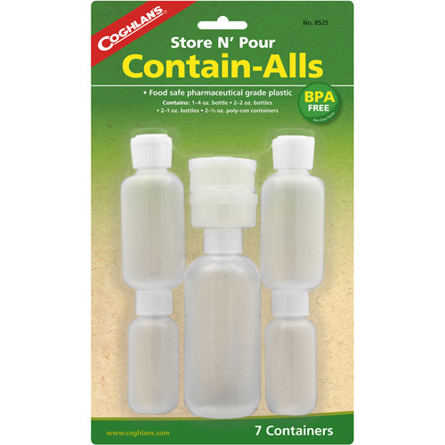 Coghlan's 8525 Store & Pour Contain-Alls Plastic Containers