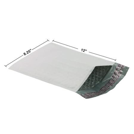 "200 Poly Bubble Mailer Bags 8.5x12"" - #2 Pouches Envelopes White Self-Sealing"