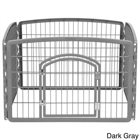 IRIS USA, Inc. IRIS Plastic 24-inch Exercise 4-panel Pet Playpen with