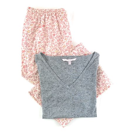 48de0719b1 Victoria s Secret Pajama Set Mayfair Cotton Pants and Short Sleeve Tee -  Walmart.com