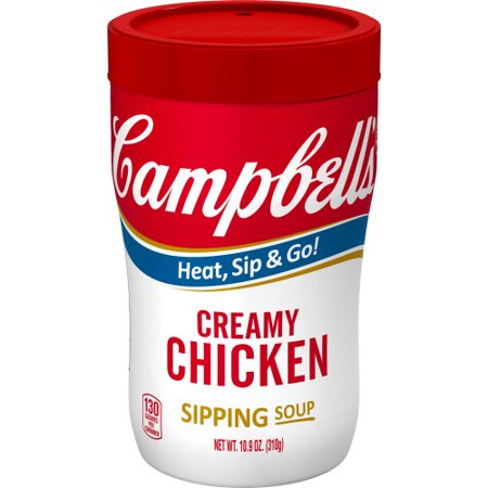 Campbell's Creamy Chicken Sipping Soup, 10.9 oz. Cup Creamy Leek Soup