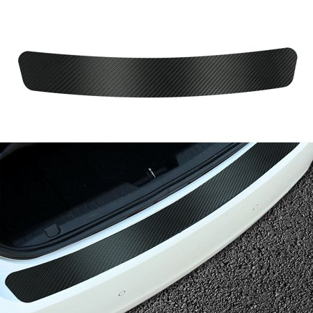Carbon Fiber Car Rear Guard Bumper 4D Sticker Panel Protector Anti- scratch