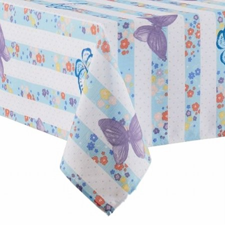 Celebrate Together Blue Butterfly Floral Tablecloth Fabric Table Cloth 60X84 Ob - Blue Fabric Tablecloth