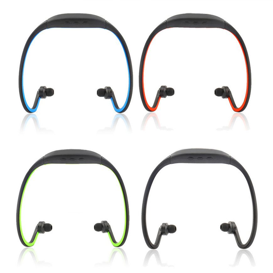 Portable Sport Wireless Bluetooth Handfree Stereo Headset Headphone Earphone For iPhone With Microphone Black 1pc