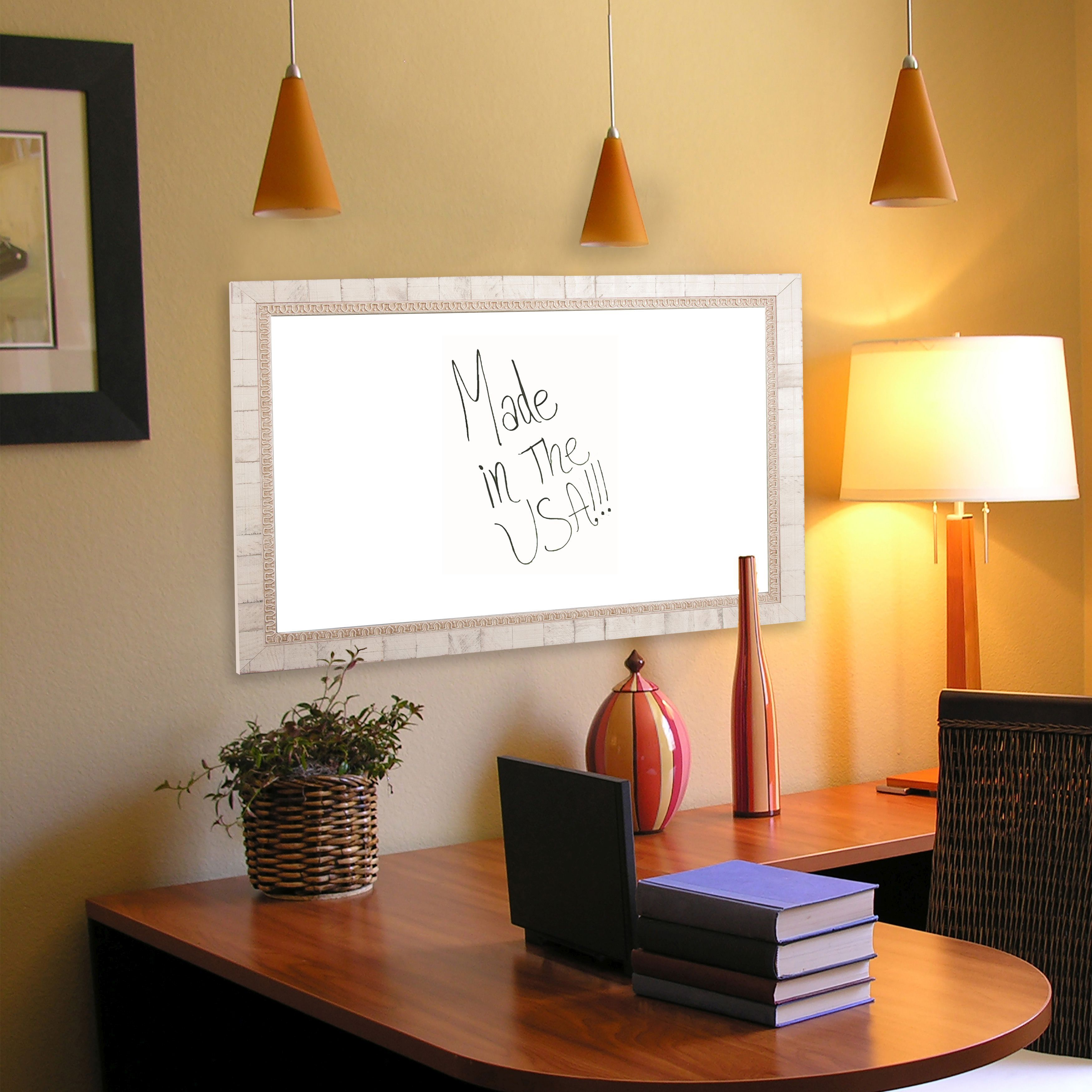 Rayne Mirrors American Made Rayne Tuscan Ivory Dry Erase Board